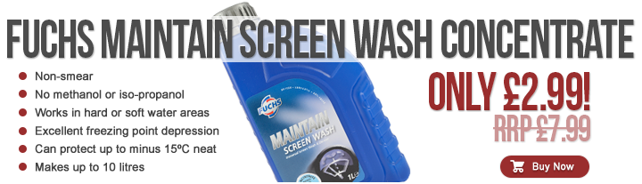 Fuchs Screen Wash, Only £2.99. Makes up to 10 Litres!