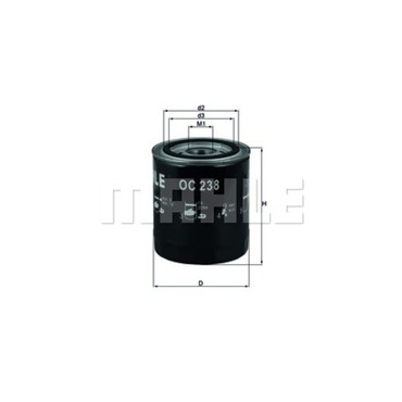Mahle Oil Filter OC238 (Jaguar)