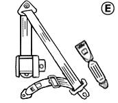 Diagram of Securon Seat Belt - Auto Lap & Diagonal