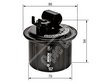 Car Fuel Filter 0986450104 - Single