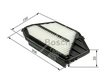 Car Air Filter F026400349 - Single