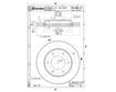 Brembo Brake Discs 09.A868.10 - Set (2 DISCS)