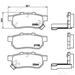 Brake Pad Set BREMBO P28025 /  - Brake Pad Set
