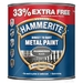 Hammerite Direct To Rust Metal - 750ml Tin + 33% Free