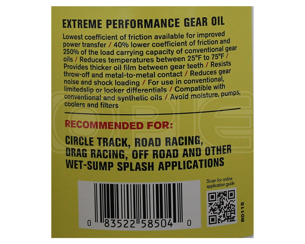 RED LINE SuperLight ShockProof Gear Oil 70w-75