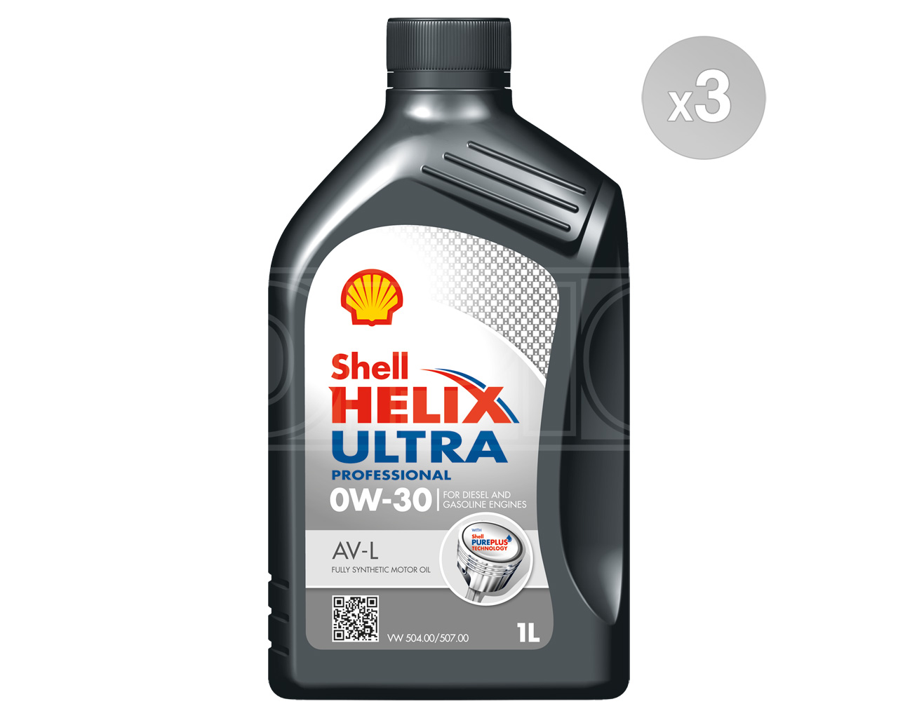 Shell Helix Ultra Professional AV-L 0w-30 Pure Plus Fully Synthetic Engine  Oil
