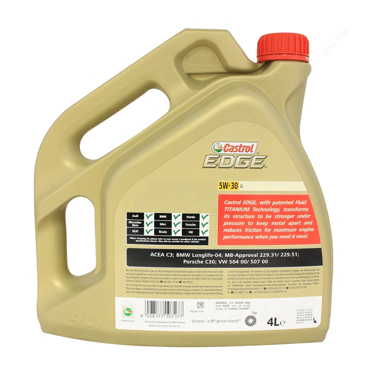 Edge Titanium Fully Engine 30 Synthetic Castrol Car Oil 5w Ll b6yIYfvm7g