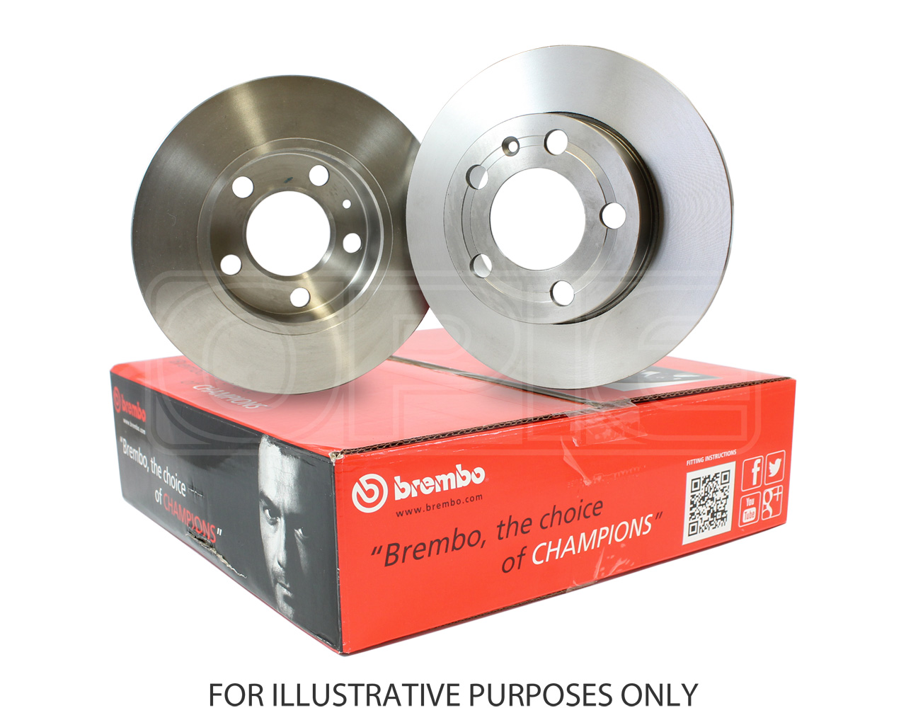 Brembo Pair Set of 2 Rear UV Coated Brake Disc Rotors For Subaru Forester Legacy