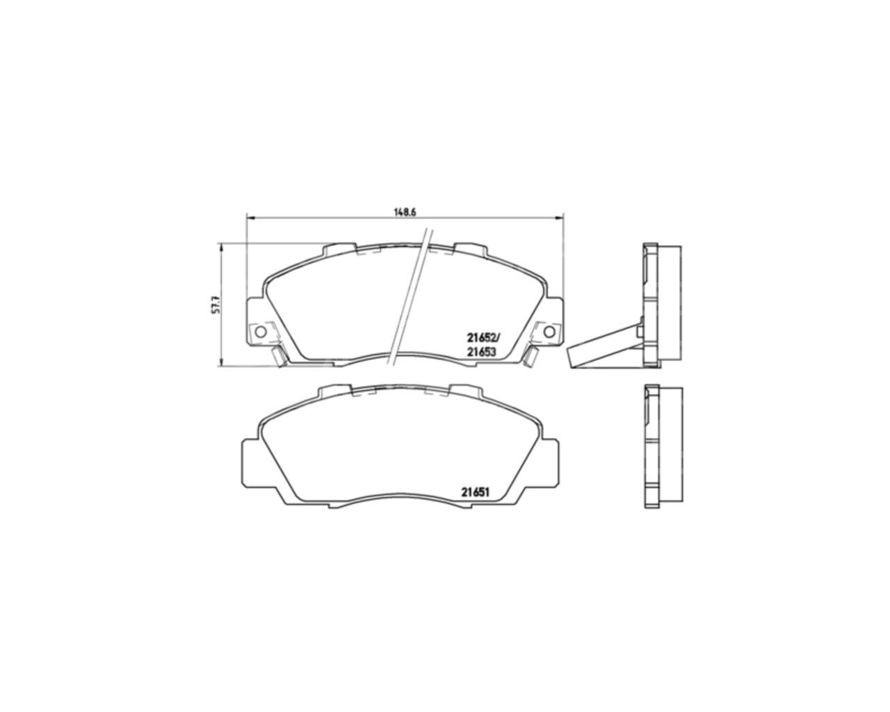 BREMBO GENUINE ORIGINAL PREMIUM BRAKE PADS PAD SET FRONT AXLE P28026
