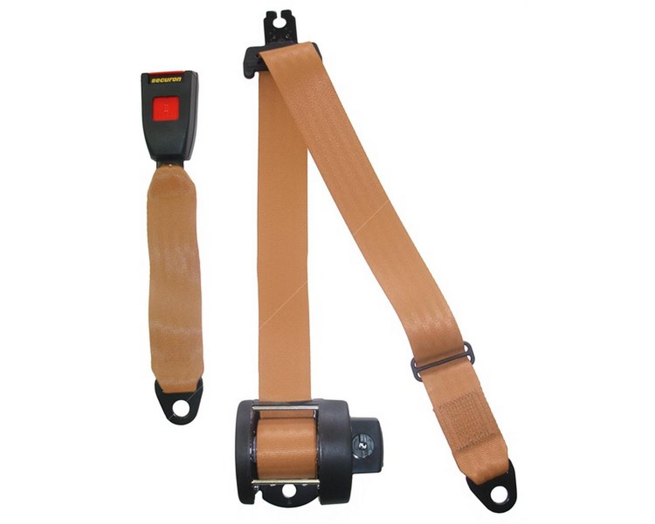 Securon Seat Belt Retracting Lap /& Electric Switch Buckle Orange