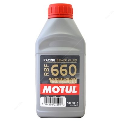 Motul RBF 660 Factory Line Racing Brake Fluid - Fully Synthetic, High Boiling Point DOT 4 | RBF660 - 500ml (101666)