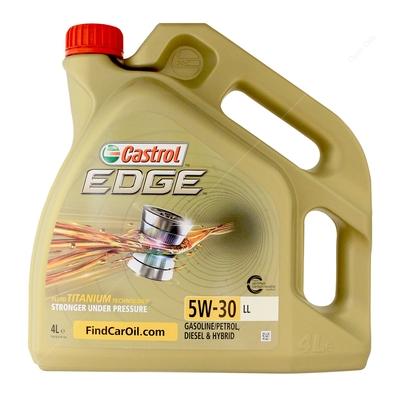 1a3e8152ed8 Castrol Edge Titanium 5w-30 LL Fully Synthetic Car Engine Oil - 4 Litres