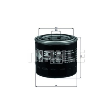 Mahle Fuel Filter KC99 (Daihatsu, Kubota) on